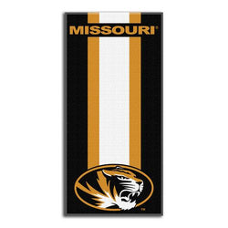 Missouri Tigers NCAA Zone Read Cotton Beach Towel (30in x 60in)
