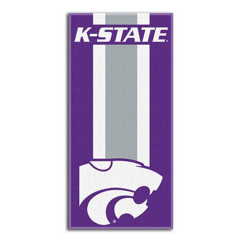 Kansas State Wildcats NCAA Zone Read Cotton Beach Towel (30in x 60in)