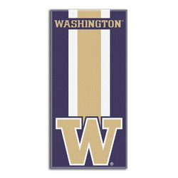 Washington Huskies NCAA Zone Read Cotton Beach Towel (30in x 60in)