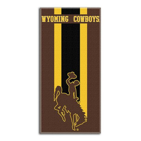 Wyoming Cowboys NCAA Zone Read Cotton Beach Towel (30in x 60in)