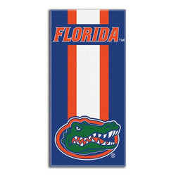 Florida Gators NCAA Zone Read Cotton Beach Towel (30in x 60in)