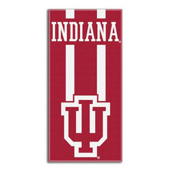 Indiana Hoosiers NCAA Zone Read Cotton Beach Towel (30in x 60in)