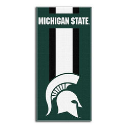 Michigan State Spartans NCAA Zone Read Cotton Beach Towel (30in x 60in)
