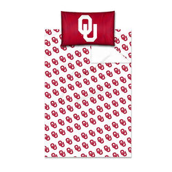 Oklahoma Sooners NCAA Twin Sheet Set