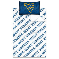 West Virginia Mountaineers NCAA Twin Sheet Set