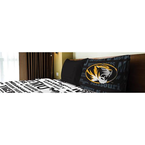 Missouri Tigers NCAA Twin Sheet Set (Anthem Series)