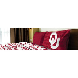 Oklahoma Sooners NCAA Twin Sheet Set (Anthem Series)