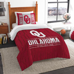 Oklahoma Sooners NCAA Twin Comforter Set (Modern Take Series) (64 x 86