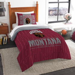 Montana Grizzlies NCAA Twin Comforter Set (Modern Take Series) (64 x 86