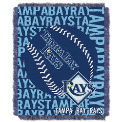 Tampa Bay Rays MLB Triple Woven Jacquard Throw (Double Play) (48x60