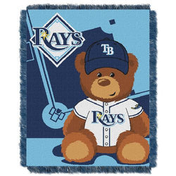 Tampa Bay Rays MLB Triple Woven Jacquard Throw (Field Baby Series) (36x48