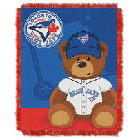 Toronto Blue Jays MLB Triple Woven Jacquard Throw (Field Baby Series) (36x48