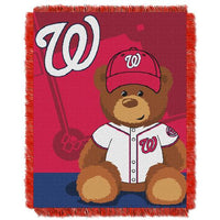 Washington Nationals MLB Triple Woven Jacquard Throw (Field Baby Series) (36x48