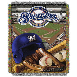 Milwaukee Brewers MLB Woven Tapestry Throw (Home Field Advantage) (48x60