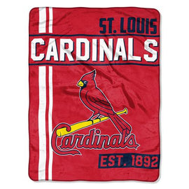 St. Louis Cardinals MLB Micro Raschel Blanket (Structure Series) (46in x 60in)