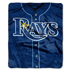 Tampa Bay Rays MLB Royal Plush Raschel Blanket (Jersey Series) (50in x 60in)