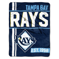 Tampa Bay Rays MLB Micro Raschel Blanket (Walk Off Series) (48x60