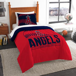 Los Angeles Angels MLB Twin Comforter Set (Grand Slam Series) (64 x 86