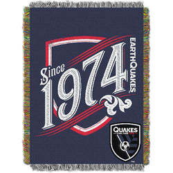 San Jose Earthquakes MLS Woven Tapestry Throw Blanket (48x60