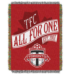 Toronto FC MLS Woven Tapestry Throw Blanket (48x60