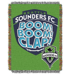 Seattle Sounders FC MLS Woven Tapestry Throw Blanket (48x60