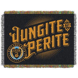 Philadelphia Union MLS Woven Tapestry Throw Blanket (48x60