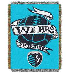 Sporting Kansas City MLS Woven Tapestry Throw Blanket (48x60