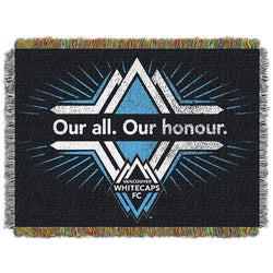 Vancouver WhiteCaps FC MLS Woven Tapestry Throw Blanket (48x60