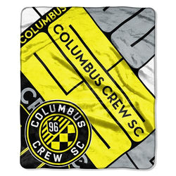 Columbus Crew MLS Royal Plush Raschel Blanket (Scramble Series) (50x60