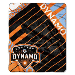 Houston Dynamo MLS Royal Plush Raschel Blanket (Scramble Series) (50x60