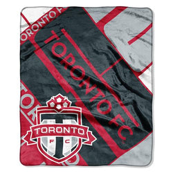Toronto FC MLS Royal Plush Raschel Blanket (Scramble Series) (50x60