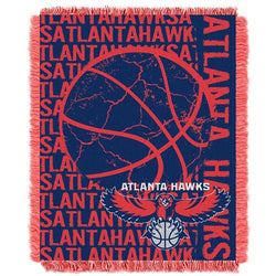 Atlanta Hawks NBA Triple Woven Jacquard Throw (Double Play Series) (48x60