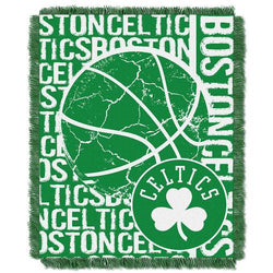 Boston Celtics NBA Triple Woven Jacquard Throw (Double Play Series) (48x60