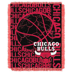 Chicago Bulls NBA Triple Woven Jacquard Throw (Double Play Series) (48x60
