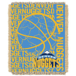 Denver Nuggets NBA Triple Woven Jacquard Throw (Double Play Series) (48x60