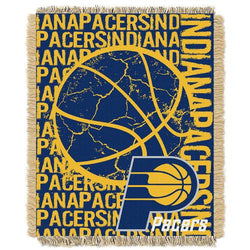 Indiana Pacers NBA Triple Woven Jacquard Throw (Double Play Series) (48x60