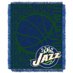 Utah Jazz NBA Triple Woven Jacquard Throw (Double Play Series) (48x60