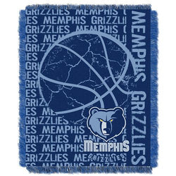 Memphis Grizzlies NBA Triple Woven Jacquard Throw (Double Play Series) (48x60