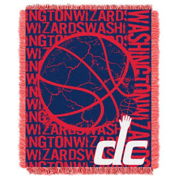 Washington Wizards NBA Triple Woven Jacquard Throw (Double Play Series) (48x60