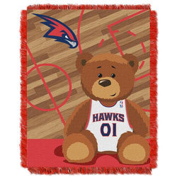 Atlanta Hawks NBA Triple Woven Jacquard Throw (Half Court Baby Series) (36x48
