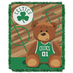 Boston Celtics NBA Triple Woven Jacquard Throw (Half Court Baby Series) (36x48