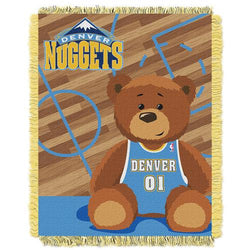 Denver Nuggets NBA Triple Woven Jacquard Throw (Half Court Baby Series) (36x48