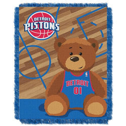 Detroit Pistons NBA Triple Woven Jacquard Throw (Half Court Baby Series) (36x48
