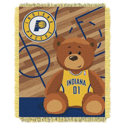 Indiana Pacers NBA Triple Woven Jacquard Throw (Half Court Baby Series) (36x48