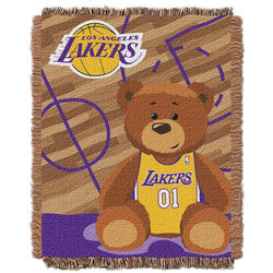 Los Angeles Lakers NBA Triple Woven Jacquard Throw (Half Court Baby Series) (36x48