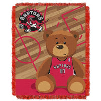 Toronto Raptors NBA Triple Woven Jacquard Throw (Half Court Baby Series) (36x48