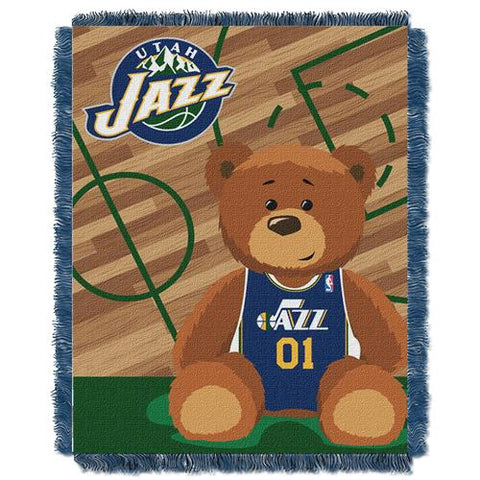 Utah Jazz NBA Triple Woven Jacquard Throw (Half Court Baby Series) (36x48
