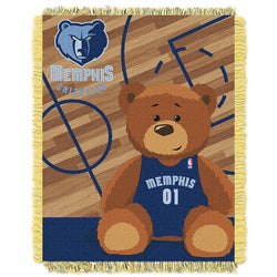 Memphis Grizzlies NBA Triple Woven Jacquard Throw (Half Court Baby Series) (36x48