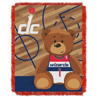 Washington Wizards NBA Triple Woven Jacquard Throw (Half Court Baby Series) (36x48