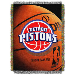 Detroit Pistons NBA Woven Tapestry Throw Blanket (48x60